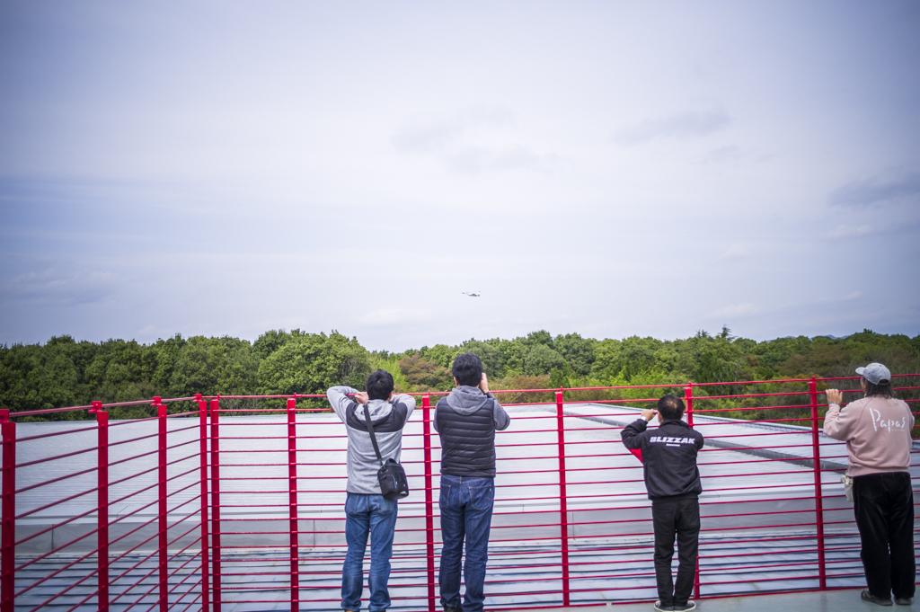 航空自衛隊岐阜基地からの戦闘機の離陸