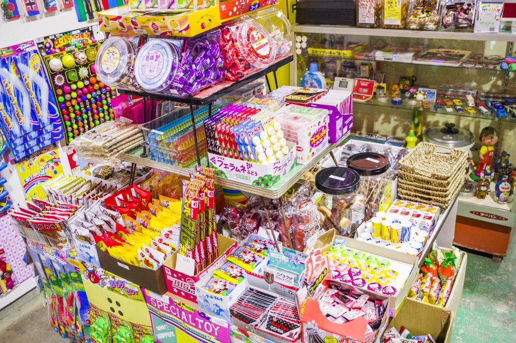 岐阜レトロミュージアムの駄菓子屋コーナー