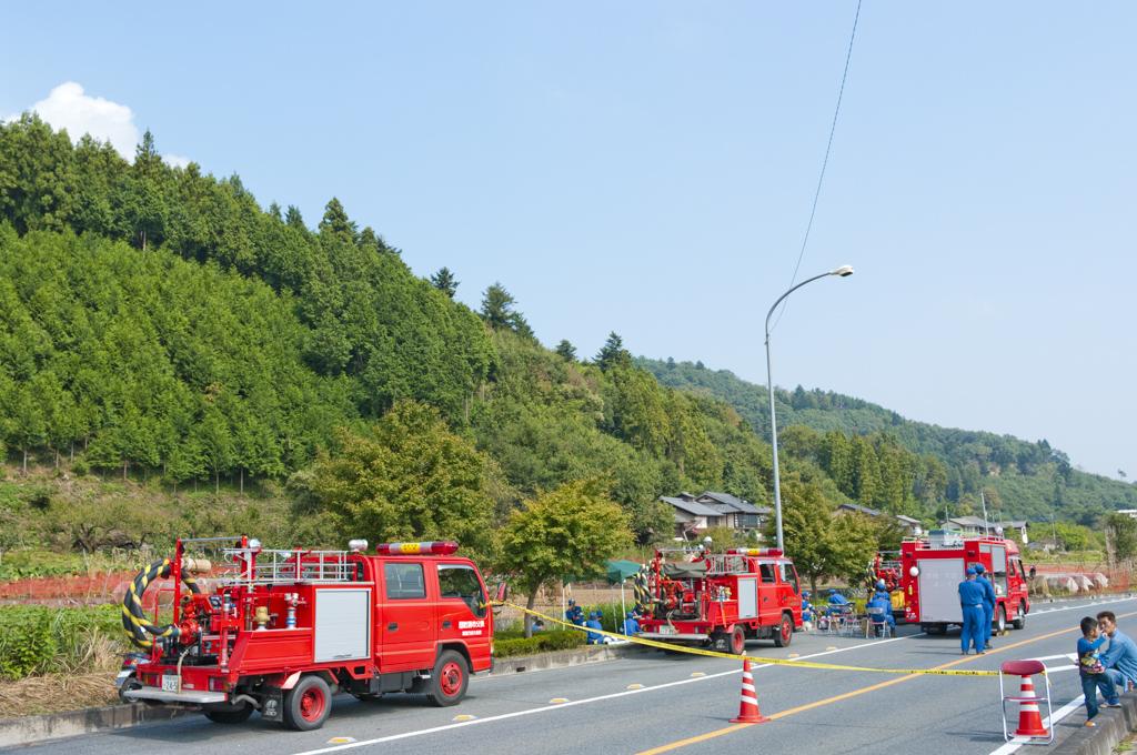 龍勢祭り 安全性 消防車