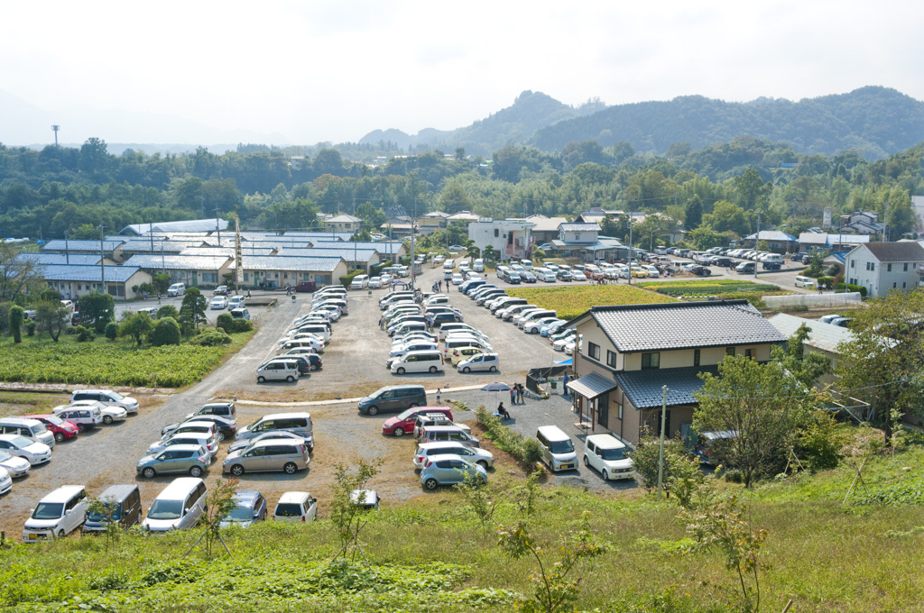 龍勢祭り 駐車場 混雑状況