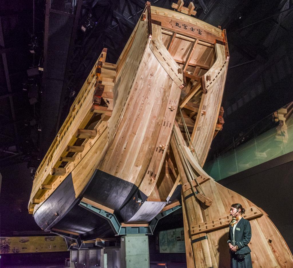 ミツカンミュージアムの巨大な船