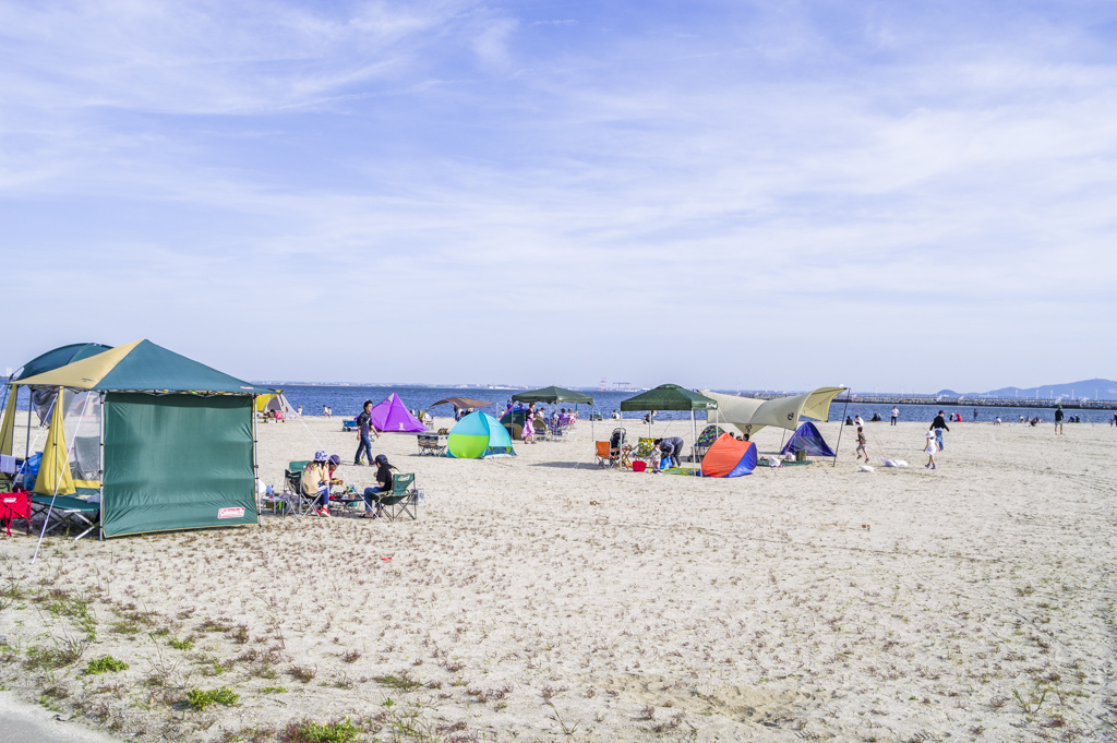 森、道、市場2018の砂浜デイキャンプエリア