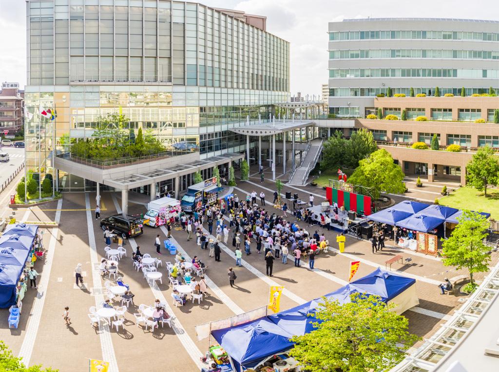 岡崎市の北欧の夏至祭2018年の会場風景