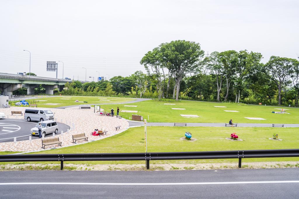 愛知県西尾市のバーベキュー場岡ノ山遊ぼっ茶広場風景