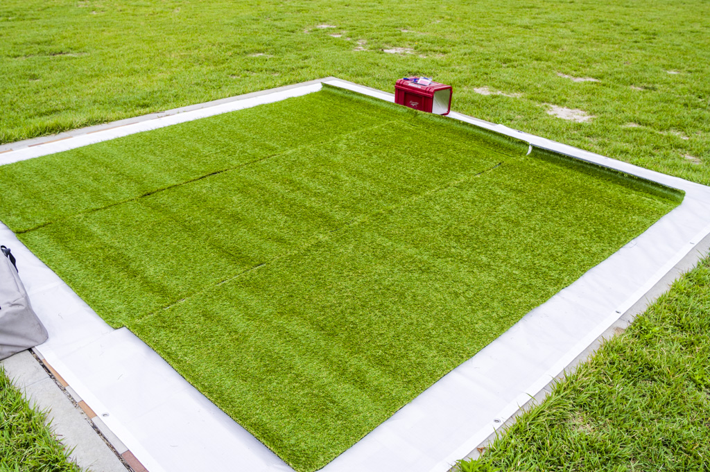 画期的なバーベキューの人工芝マット