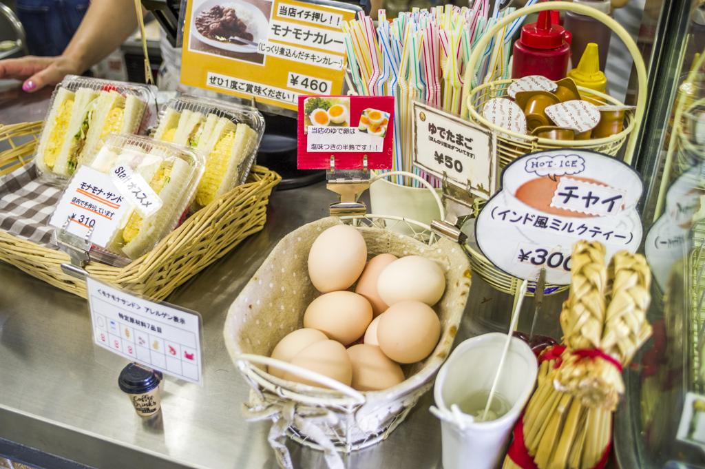 中京競馬場グルメモナモナのゆで卵半熟