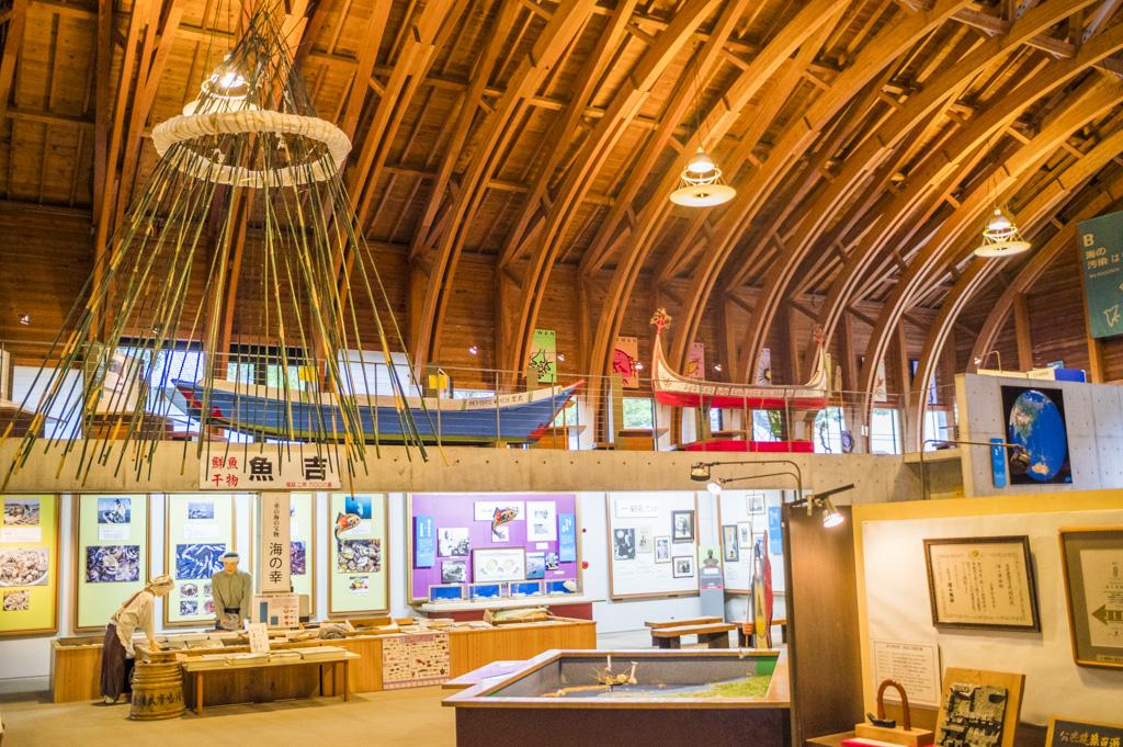 三重県鳥羽の海の博物館の内観