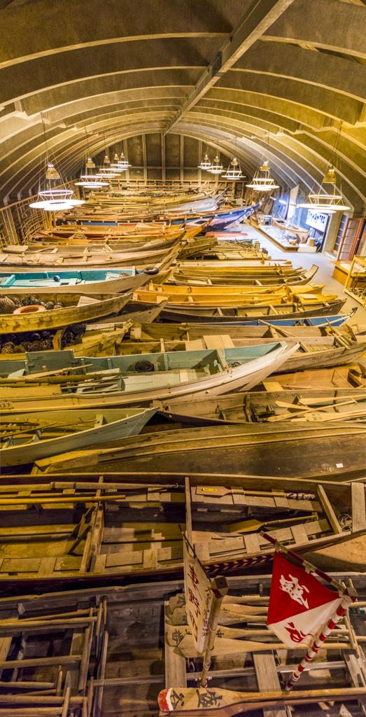 三重県伊勢志摩海の博物館船の収蔵庫最高の景色