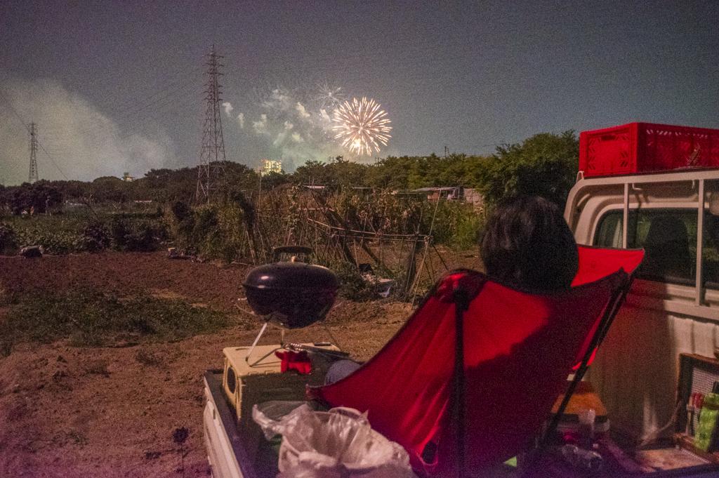 岡崎城下家康公夏まつり第70回花火大会を観ながらバーベキュー