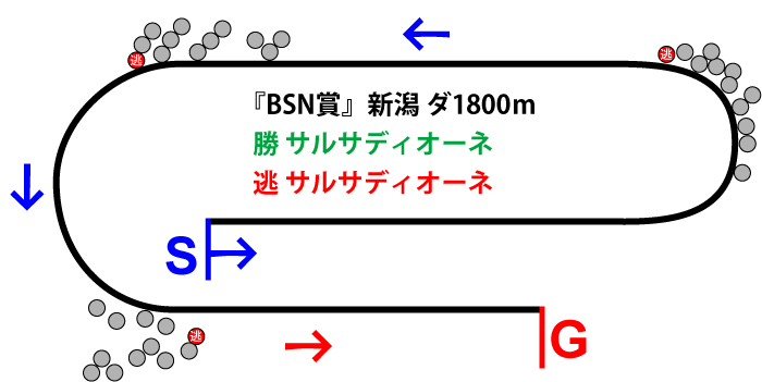BSN賞2018年のレース展開位置取り図