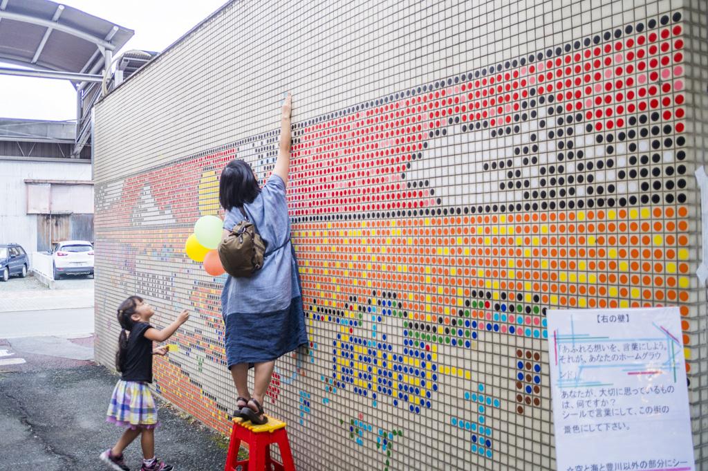 豊橋アートイベントsebone2018目玉企画点描アート