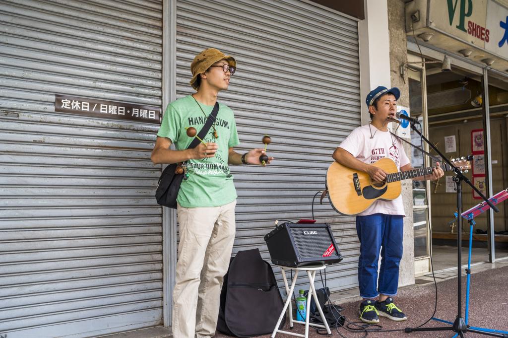 sebone2018年の堀川シンジ路上ライブ