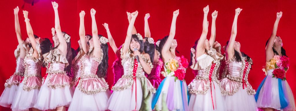 豊田ご当地アイドルStar☆Tライブが愛知県豊田市の廃校で開催