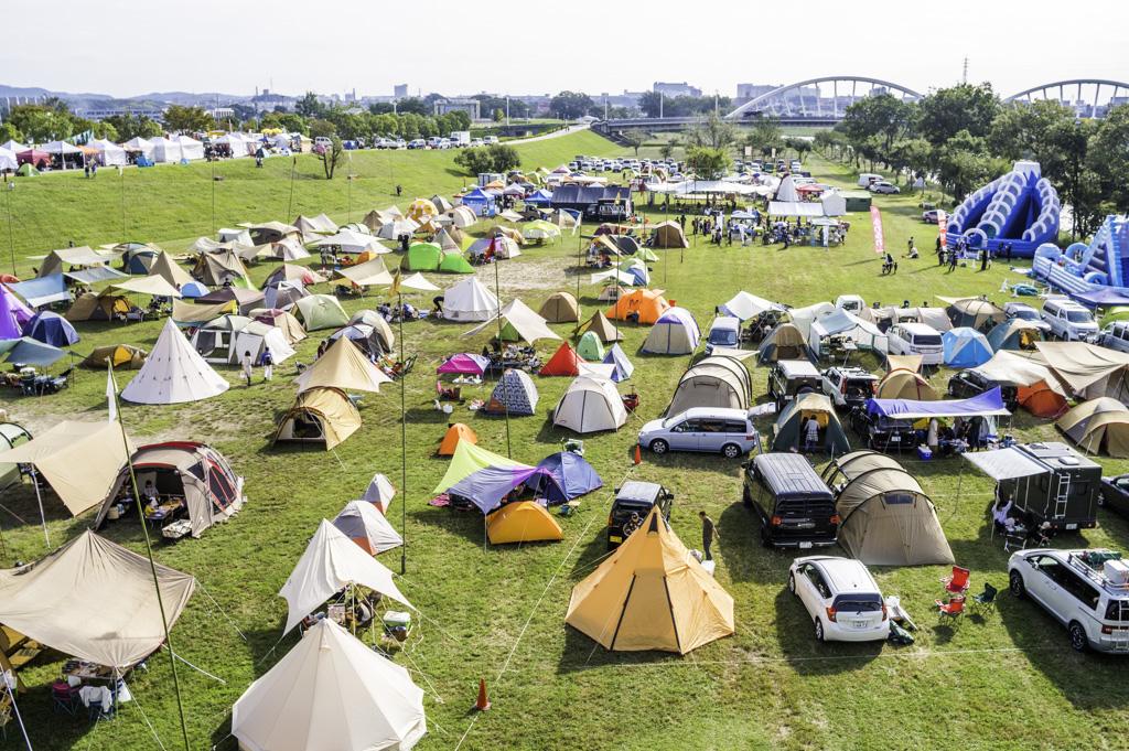 トヨタロックフェスティバルのキャンプサイト