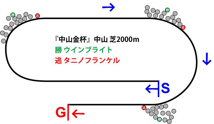 中山金杯2019年のレース展開位置取り図
