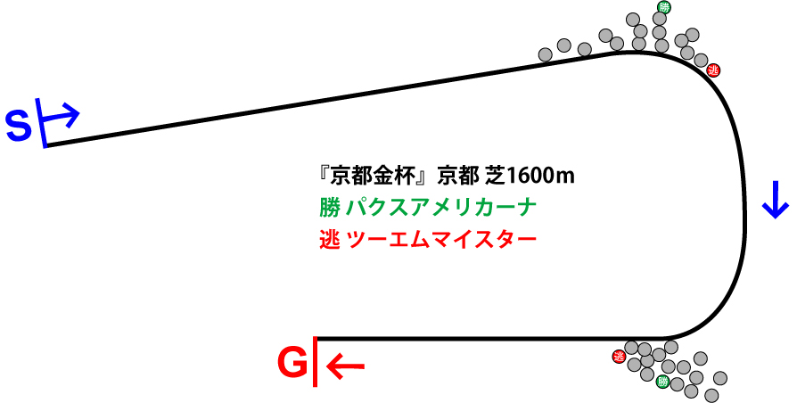 京都金杯2019年のレース展開位置取り図