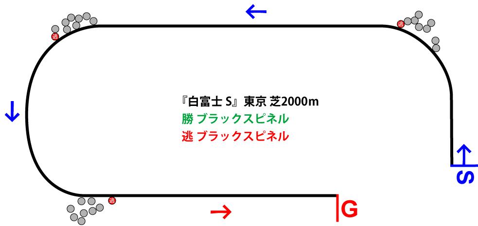 白富士ステークス2019年のレース展開位置取り図