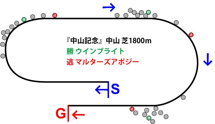 中山記念2019年のレース展開位置取り図