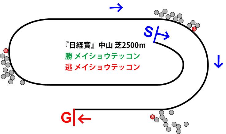 日経賞2019年のレース展開位置取り図
