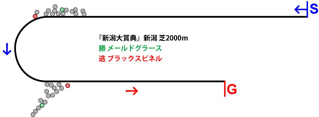 新潟大賞典2019年のレース展開位置取り図