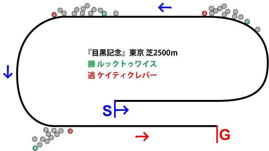 目黒記念2019年のレース展開位置取り図