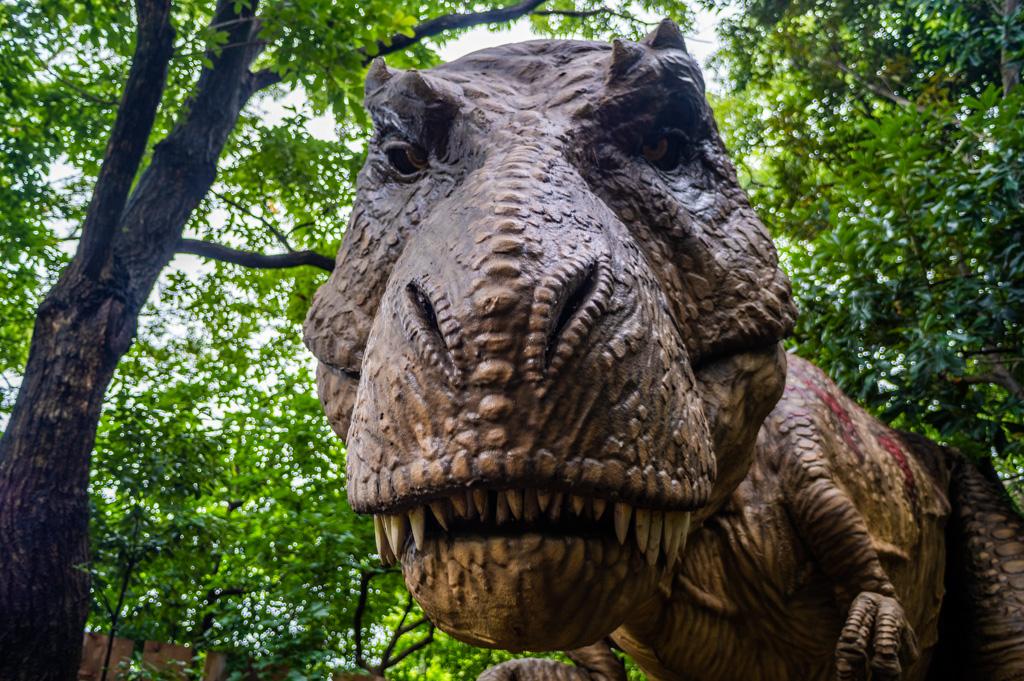 愛知県のオススメ観光スポットディノアドベンチャー名古屋のティラノサウルス