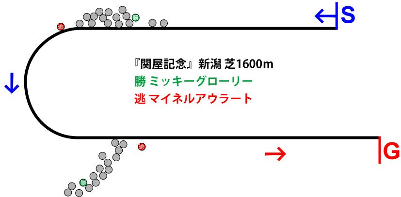 関屋記念2019年のレース展開位置取り図