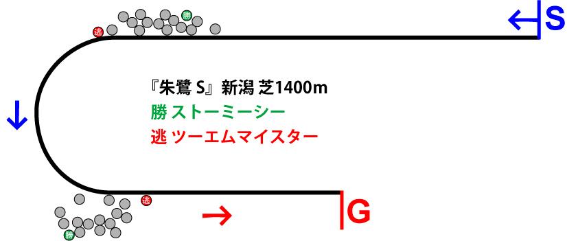 朱鷺ステークス2019年のレース展開位置取り図