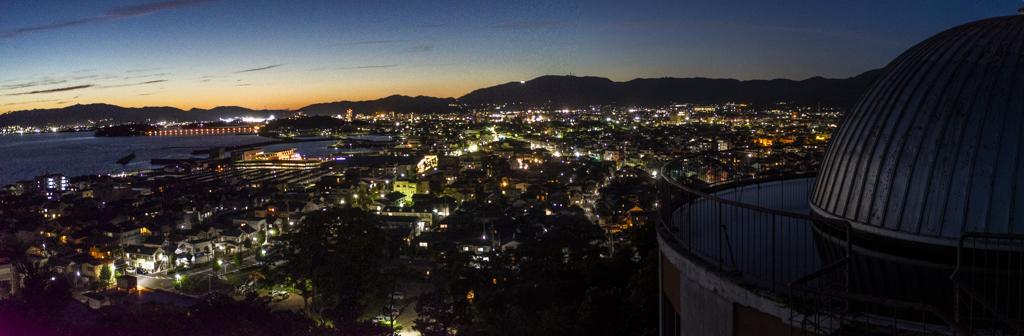 愛知県蒲郡市 パノラマ 三谷温泉 夜景