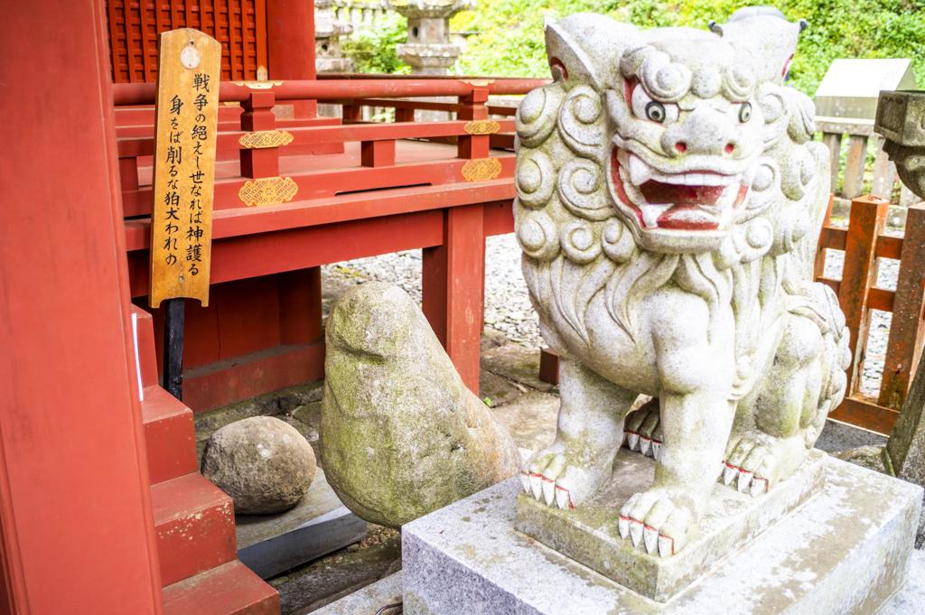 鳳来山東照宮の狛犬