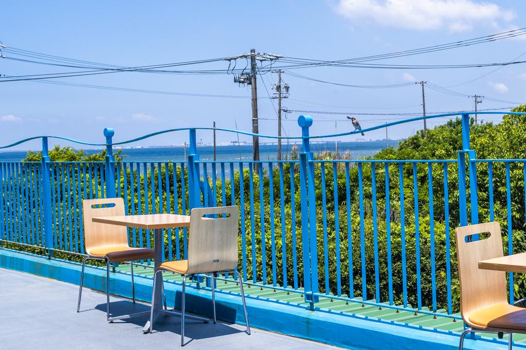 レストラン ザ ビーチ、屋外の飲食スペース