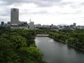 広島城より球場を望む