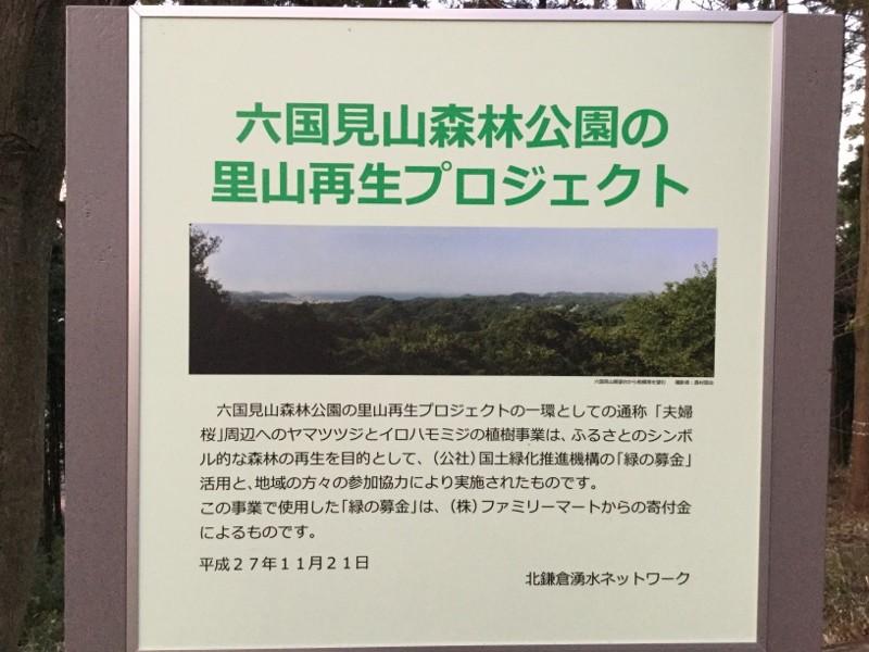 六国見山森林公園(看板)