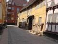 オーデンセの街角 アンデルセンが通った学校当たり