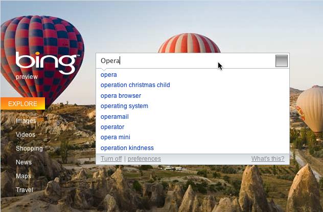 Bingでサジェスト