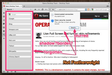Not Featherweight。Opera Next 12 build1039で確認。