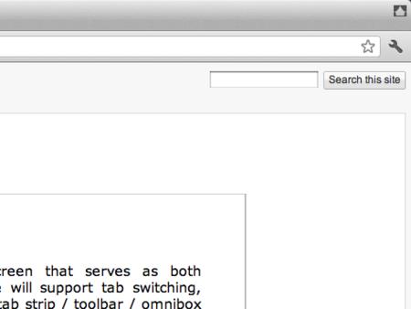 Google Chrome Canary v15のカーテンアイコン
