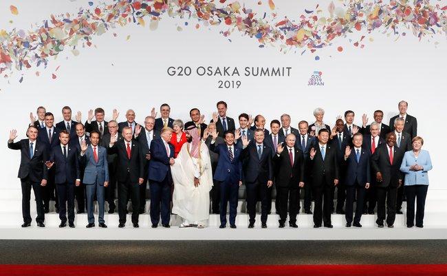 (Osaka - Japão, 28/06/2019) Presidente da República, Jair Bolsonaro, durante foto de família dos Líderes do G20.Foto: Alan Santos / PR