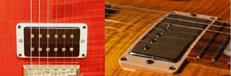 ギターのピックアップハムバッカー2パターン