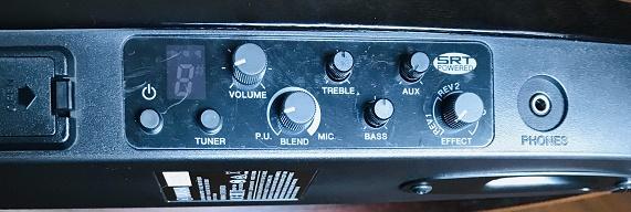 サイレントギターのコントロールパネル