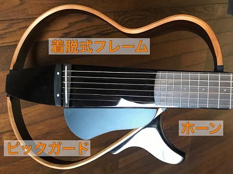 サイレントギターのボディ周りの特徴