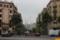 サンパウ病院入り口から、まっすぐ見えるサグラダ・ファミリア。感動