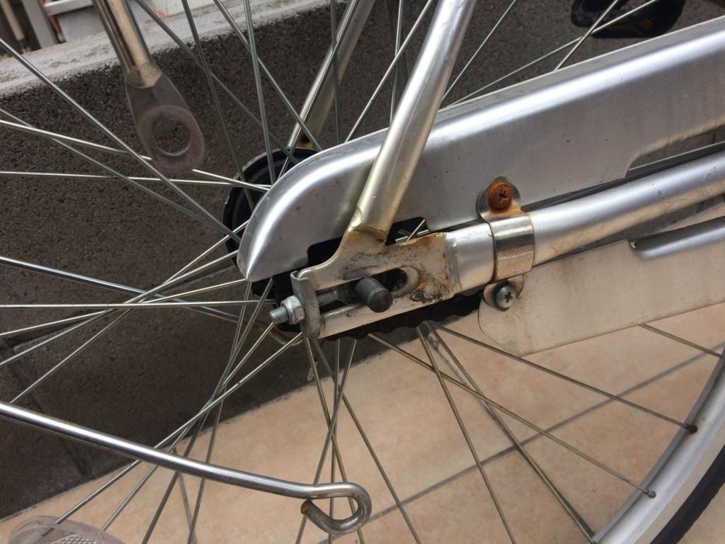 自転車、ママチャリのスタンドを交換方法