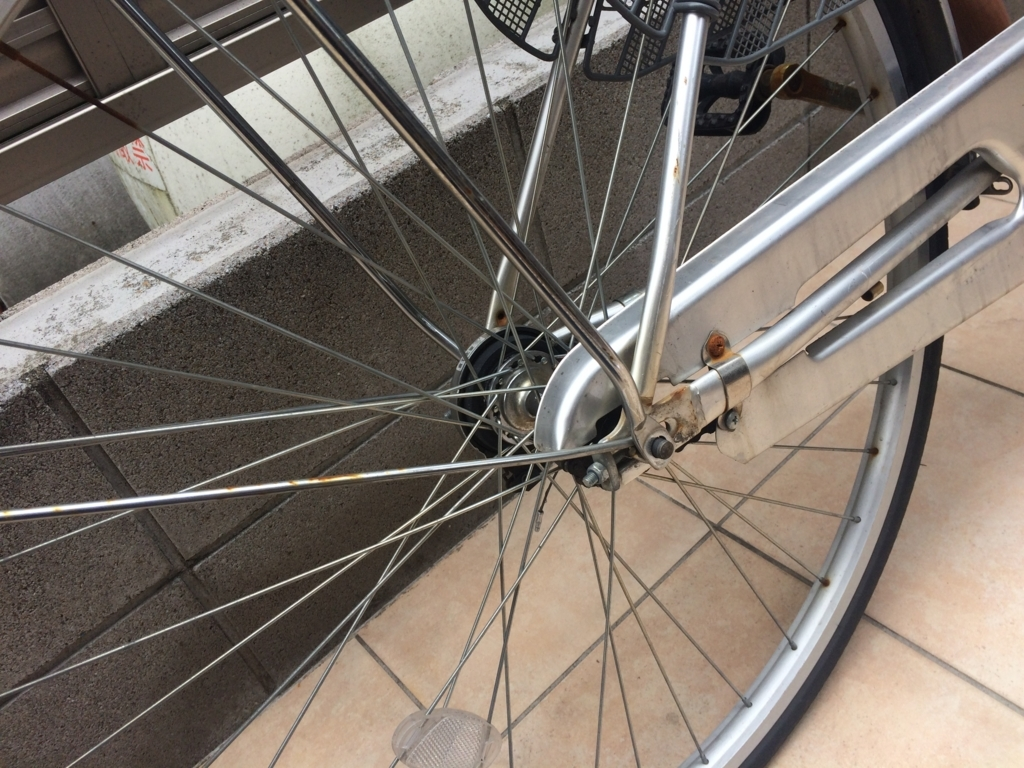 自転車のスタンドを交換するときの方法