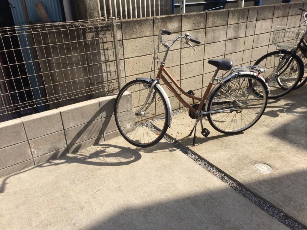 自転車のスタンド交換