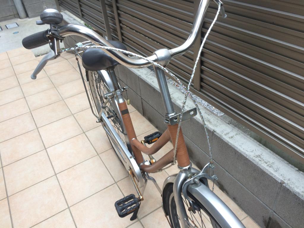 自転車(ママチャリ)のブレーキワイヤー交換後