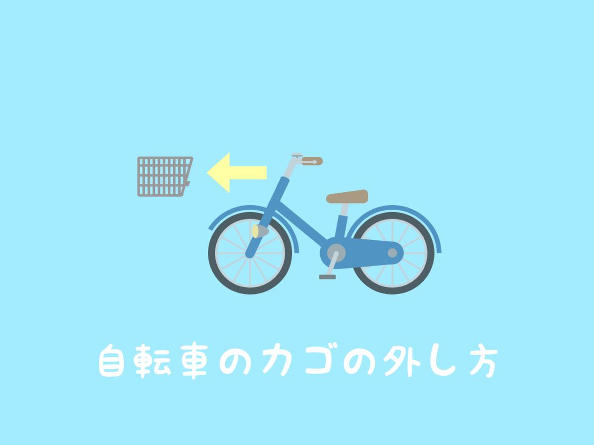 自転車のカゴの外し方