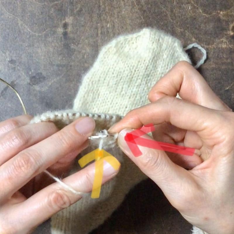 棒針編みの裏編の編み方