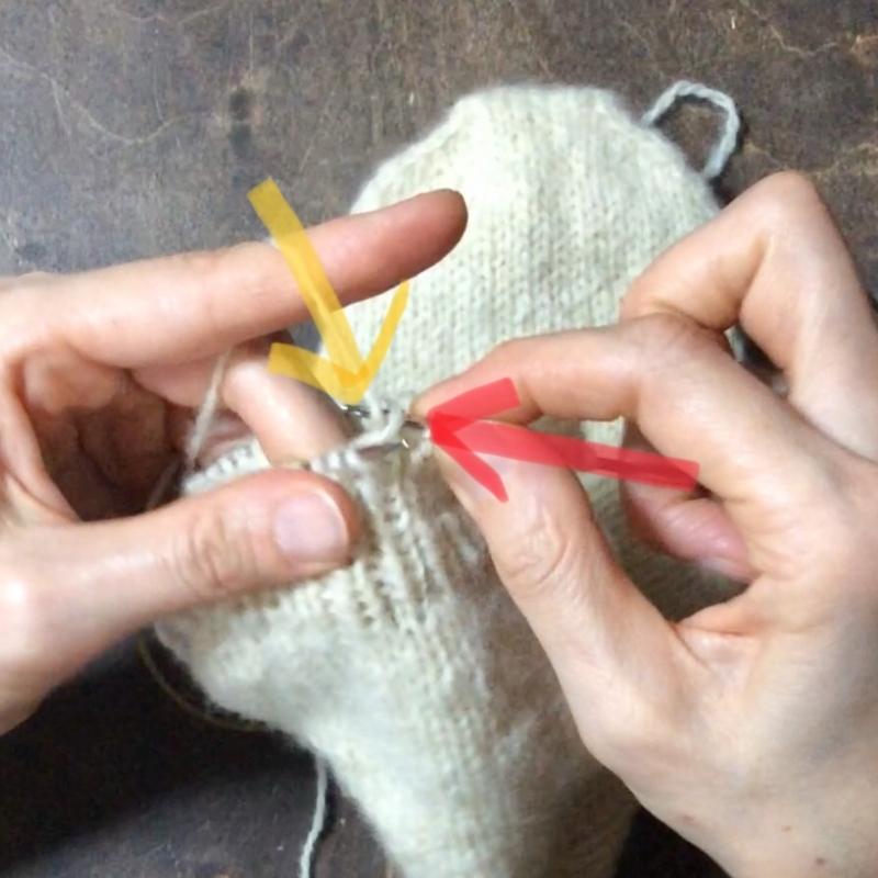 棒針編みの表編の編み方