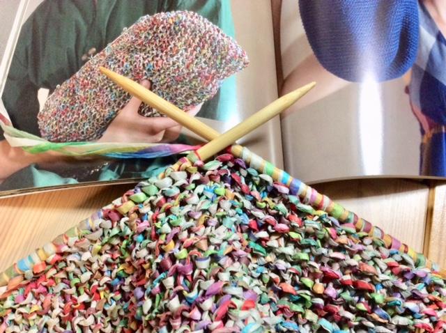 リーフィーのバッグ ヨーロッパの手編みより